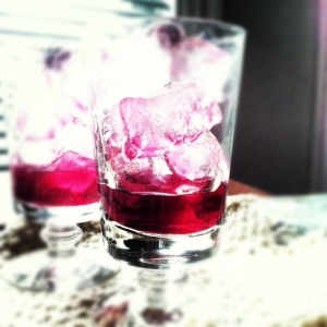 cranberry cordial on ice