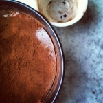 chocolate dusted pan