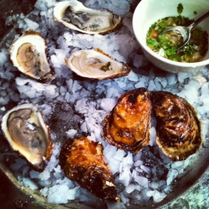 oyster and sauce