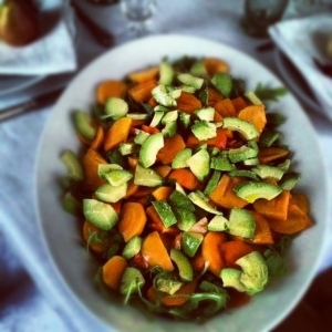 persimmon avocado salad