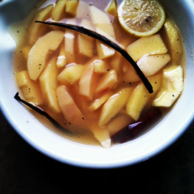 poached quince