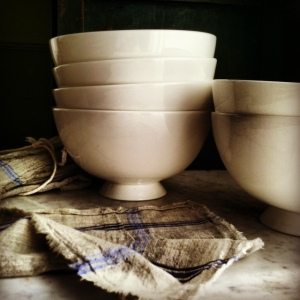 bowls and linen