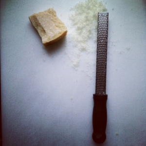 micro grater with parmesan