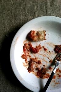 empty spaghetti plate