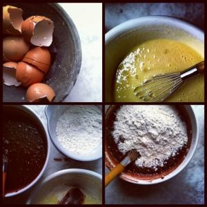 brownie making